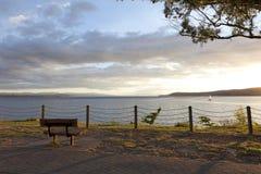 湖Taupo新西兰 免版税库存图片