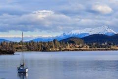 湖te anau南岛新西兰impor美好的sceninc  免版税库存照片