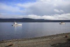 湖te anau南岛新西兰impor美好的sceninc  免版税图库摄影
