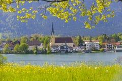 湖Tegernsee在巴伐利亚 免版税库存照片