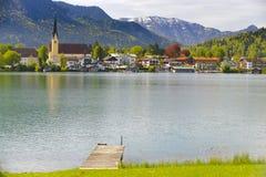 湖Tegernsee在巴伐利亚 库存照片