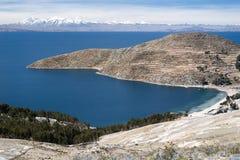 湖Titicaca在玻利维亚 免版税库存图片