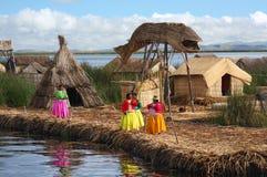 湖Titicaca在秘鲁 免版税库存图片