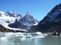 湖Torre,阿根廷patagoni 库存照片