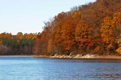 湖triadelphia 库存照片