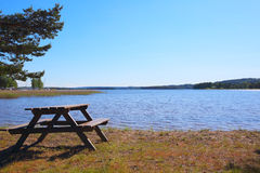 湖Vattern在瑞典 库存照片