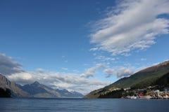 湖Wakatipu, Queenstown,新西兰 库存照片