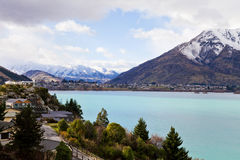 湖Wakatipu, Queenstown,新西兰 图库摄影