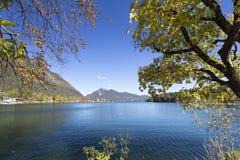 湖Walchensee在南德国 免版税库存照片