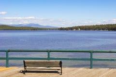 湖Winnepesaukee在新罕布什尔,美国 库存照片