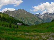 从湖Wirpitchsee的奥地利阿尔卑斯外型 免版税库存照片