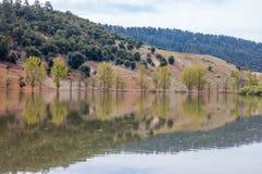 湖wiwan在摩洛哥, khenifra 免版税库存图片