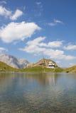 湖Wolayersee在Lesachtal克恩顿州奥地利 免版税库存图片