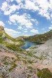 湖Wolayersee在Lesachtal克恩顿州奥地利 免版税图库摄影