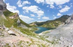 湖Wolayersee在Lesachtal克恩顿州奥地利 库存图片