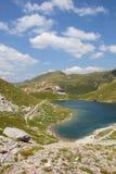 湖Wolayersee在Lesachtal克恩顿州奥地利 免版税库存照片