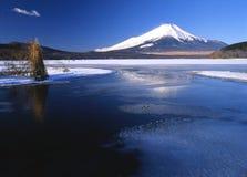 湖yamanaka 免版税库存图片