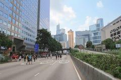 湾仔道10月1日2014年hk 图库摄影