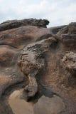 湾里区、新北市、台湾Yehliu Geopark和岩石海岛 免版税图库摄影