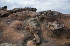 湾里区、新北市、台湾Yehliu Geopark和岩石海岛 库存图片