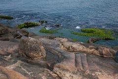 湾里区、新北市、台湾Yehliu Geopark和溶解盘 图库摄影