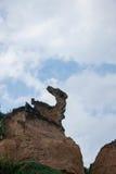 湾里区、新北市、台湾Yehliu Geopark和Ma陵鸟石头 免版税库存图片