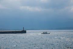 湾里区,新北市,台湾Yehliu港口灯塔Yehliu其次Geopark 免版税库存照片