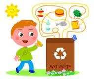 湿回收废物比赛 库存照片