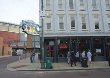 湿威利的酒吧和咖啡馆在Beale街上在孟菲斯 免版税库存照片