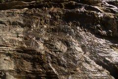 湿岩石墙壁纹理 库存照片