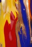 湿抽象五颜六色的油漆 免版税库存图片
