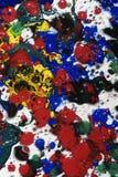 湿抽象的绘画 库存照片