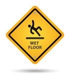 湿楼层的符号 免版税库存图片