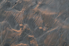 湿沙子的纹理 库存照片