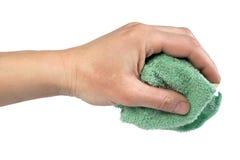 湿清洁的旧布 免版税库存照片