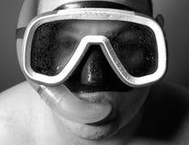 湿潜水员的iv 库存图片