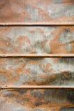 湿生锈的锡 免版税库存图片