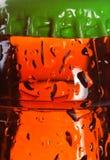 湿的啤酒瓶 免版税图库摄影