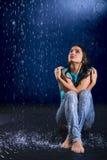 湿的女孩 免版税库存照片
