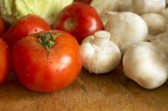 湿的新鲜蔬菜 库存图片