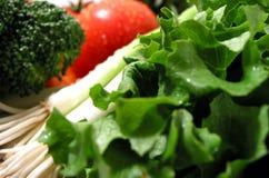 湿的新鲜蔬菜 免版税库存照片