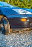 湿的汽车 免版税库存照片