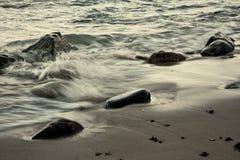 湿的沙子 免版税库存照片