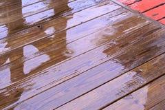 湿的甲板 免版税库存图片