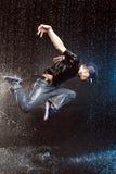 湿的舞蹈演员 图库摄影