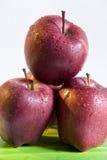 湿的苹果四 免版税库存图片