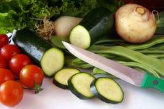湿的蔬菜 库存图片