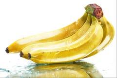 湿的香蕉 图库摄影