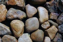 湿的鹅卵石 免版税库存图片