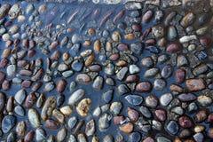 湿石渣纹理 库存照片